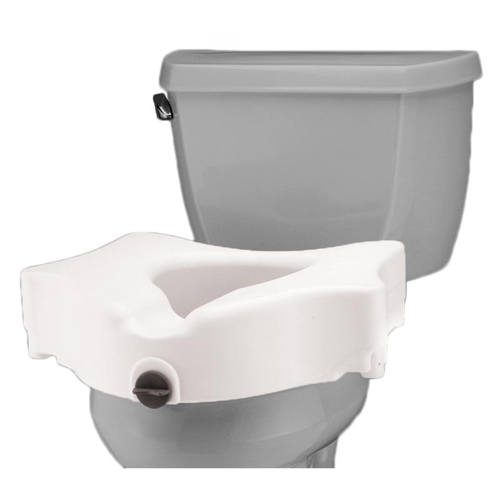 Locking Easy On and Off for Standard and Elongated Toilets NOVA Elevated Raised Toilet Seat
